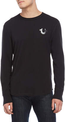 True Religion Black Core Long Sleeve Tee