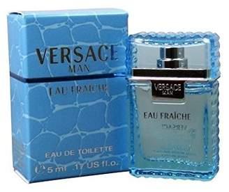 Versace MAN EAU FRAICHE by Gianni 0.17 oz / 5 ml Mini Eau De Toilette (EDT) Men Cologne Splash