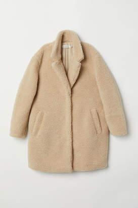 H&M Short Pile Coat - Beige
