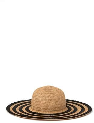 Betsey Johnson Friged Floppy Hat
