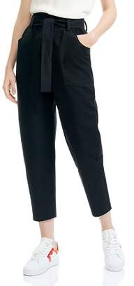 Maje Pio Cropped Tapered Pants