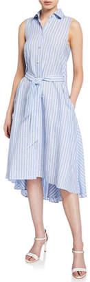 Palmer Harding palmer//harding Sedona Striped Linen Button-Front Dress