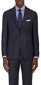 Canali Men's Capri Checked Wool Two-Button Sportcoat - Navy