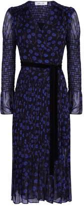 Diane von Furstenberg Ani Puff Sleeve Wrap Dress