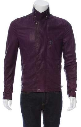 Bottega Veneta Zip-Accented Leather Jacket