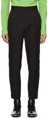 Calvin Klein Black Stripe Classic Straight-Leg Uniform Trousers