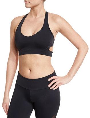 Onzie Wrap T-Back Strappy Sports Bra, Black $48 thestylecure.com