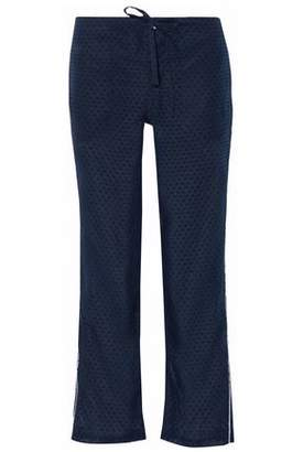 Sleepy Jones Swiss-Dot Cotton-Voile Pajama Pants