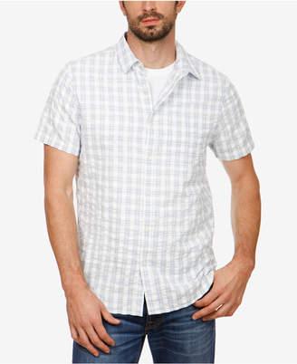 Lucky Brand Men Plaid Seersucker Shirt