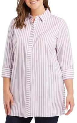 Foxcroft Wanda in Summer Stripe Shirt