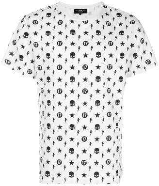 Hydrogen punk pattern T-shirt