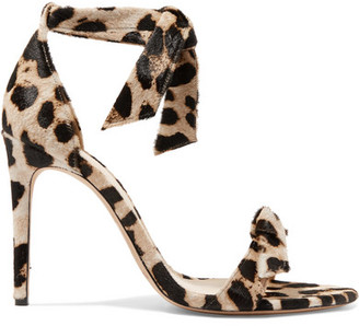 Alexandre Birman Clarita Bow-embellished Leopard-print Calf Hair Sandals