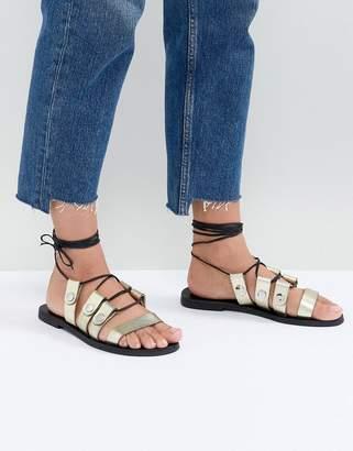 Sol Sana Divison Gold Sandals