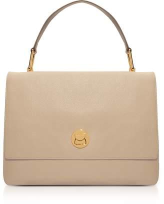 Coccinelle Grainy Leather Large Liya Satchel Bag