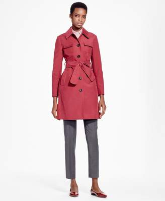 Brooks Brothers Petite Double-Face Water-Repellant Coat