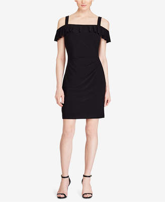 American Living Ruffled Cold-Shoulder Dress $69 thestylecure.com
