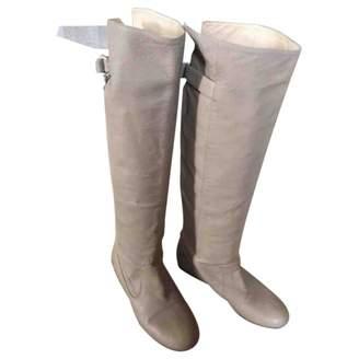 Patrizia Pepe Beige Leather Boots