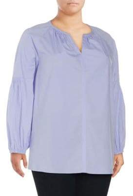 Vince Camuto Plus Puffed Sleeve Top