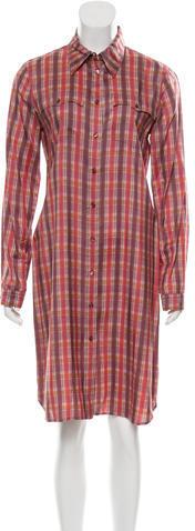 pradaPrada Plaid Silk Shirtdress