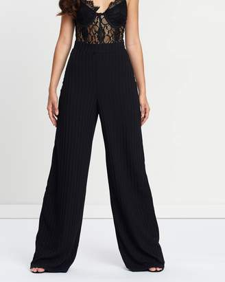 Missguided Ribbed Wide Legged Trousers