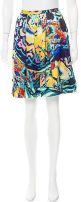 Christopher Kane Silk Mini Skirt