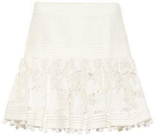 Zimmermann Corsage cotton and silk miniskirt