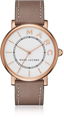 Marc Jacobs Roxy Rose Gold Tone and Brown Leather Women's Watch