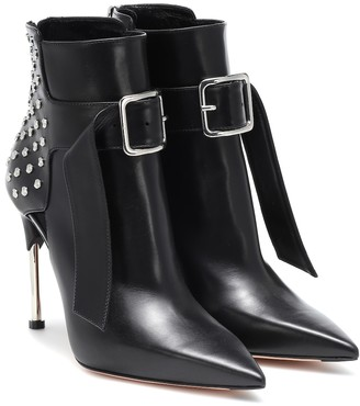 Alexander McQueen Victorian leather ankle boots