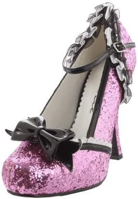Ellie Shoes Women's 453-Lacey Glitter Maryjane Pump