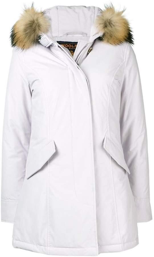 faux-fur trimmed hood coat