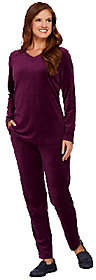 Denim & Co. Active Regular Velour Tunic andPant Set with