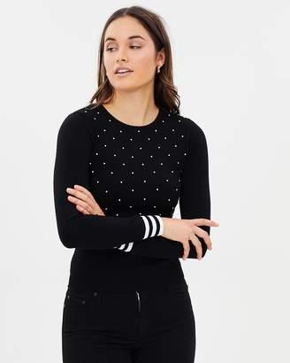 Karen Millen Pearl Embellished Knit Jumper
