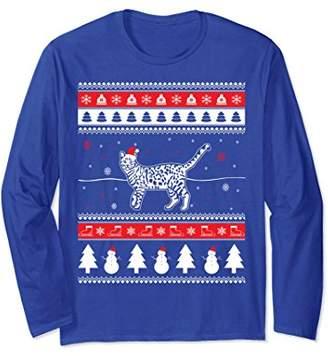 Funny Christmas Bengal Cat Long Sleeve T-Shirt