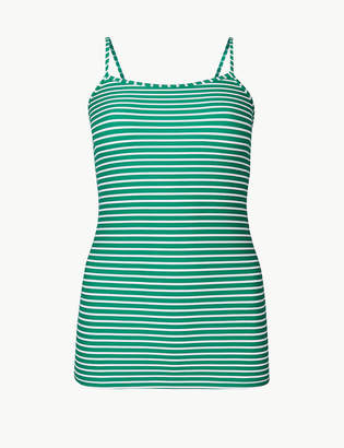 Marks and Spencer Striped Scoop Neck Tankini Top