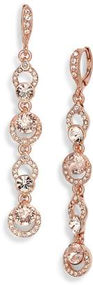 Givenchy Pave Crystal Linear Drop Earrings