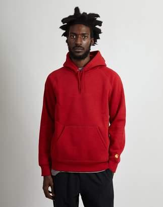 Carhartt WIP Hooded Chase Sweatshirt Red
