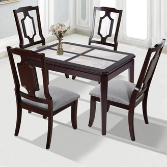 GranRest Marble 4-piece Dining table, 44-inch