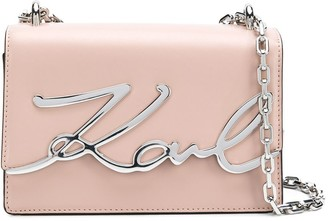 Karl Lagerfeld Paris small K/Signature shoulder bag