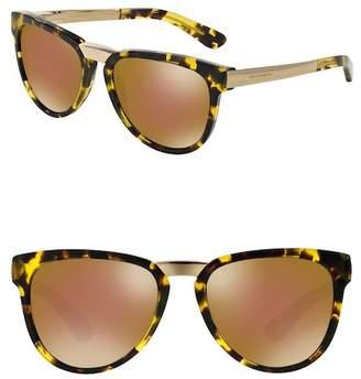 Dolce & Gabbana 54mm Mirror Sunglasses