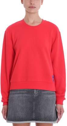Calvin Klein Red Cotton Sweatshirt