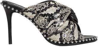 Alexander Wang Lily Half Snakeskin Leather Sandals