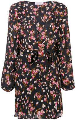 A.L.C. floral wrap mini dress