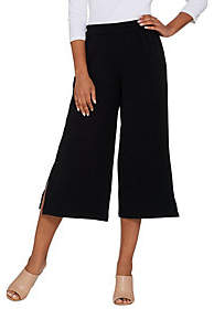 Joan Rivers Classics Collection Joan Rivers Petite Textured Knit Pull-onGaucho Pants