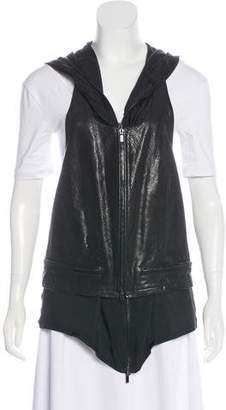 Haider Ackermann Leather Layered Vest w/ Tags