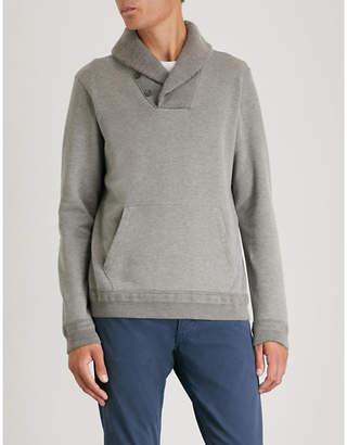 Ralph Lauren Purple Label Shawl-collar cotton-jersey sweatshirt
