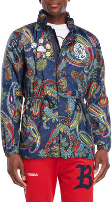 Billionaire Boys Club Globetrotter Paisley Nylon Jacket