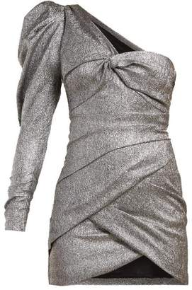 Isabel Marant Lexine One Shoulder Dress - Womens - Silver