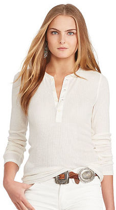 Polo Ralph Lauren Ribbed Wool-Blend Henley $98.50 thestylecure.com
