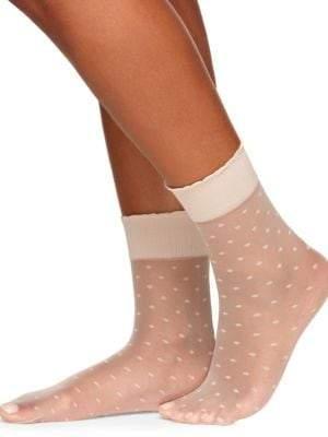 Berkshire Plus Sheer Dot Anklet Socks