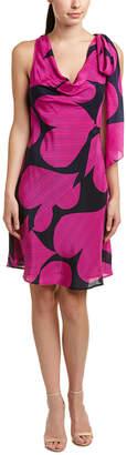 Trina Turk Santa Silk-Blend A-Line Dress